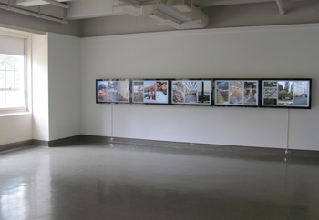 "Installation view of ""The Willard Portal"" by visiting artist Hasan Elahi"