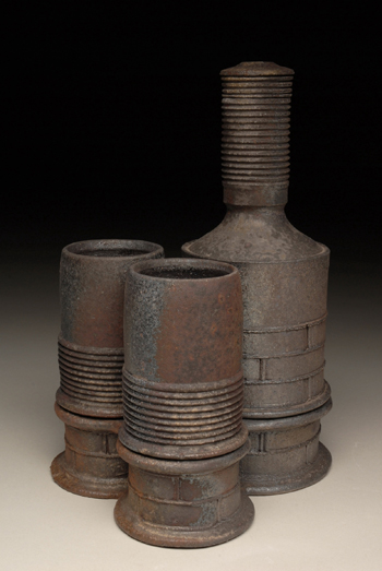 """Bottle Set"" by visiting artist Ted Neal"