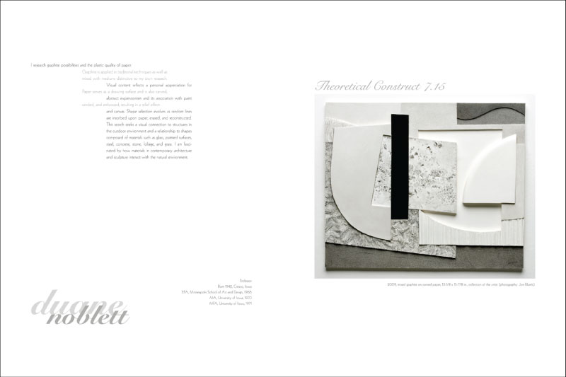 Mervi Pakaste: Faculty Biennial Exhibition Catalog Spread