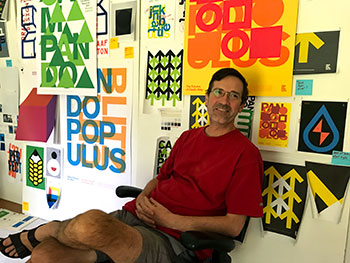 Visiting artist Michael Braley
