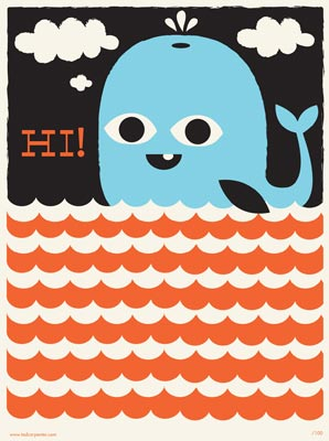 """Whale Says Hi!"" by visiting designer Tad Carpenter"