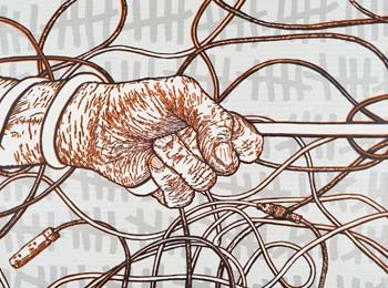 """Tangle Hash"" by visiting artist Dusty Herbig"