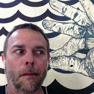 """Ear Puller"" selfie by visiting artist Dusty Herbig"