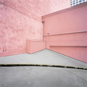 """Pink Wall"", Los Angeles, CA, 40x40"" by visiting artist Daniel Mirer"