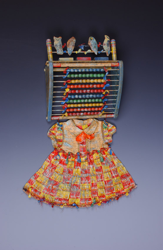 "Lynda Andrus. ""Sweet Treats"". Fabric, Candy, Wrappers, Found Objects, and Paint. 2006"